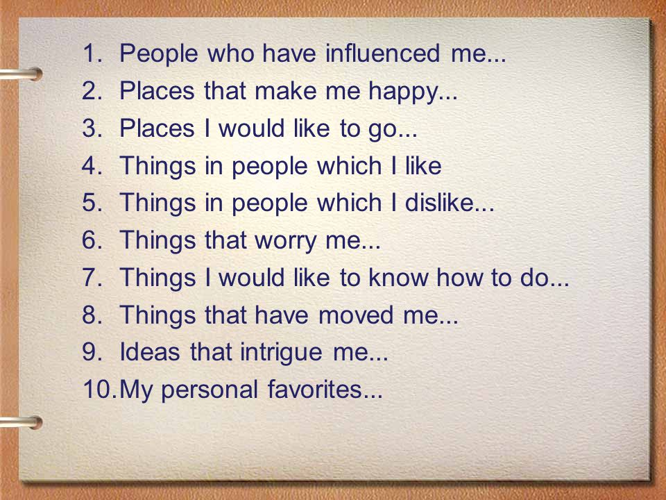 People who have influenced me...