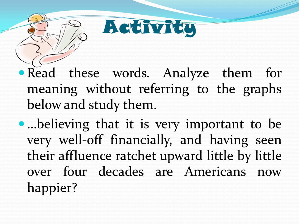Activity Read these words. Analyze them for meaning without referring to the graphs below and study them.