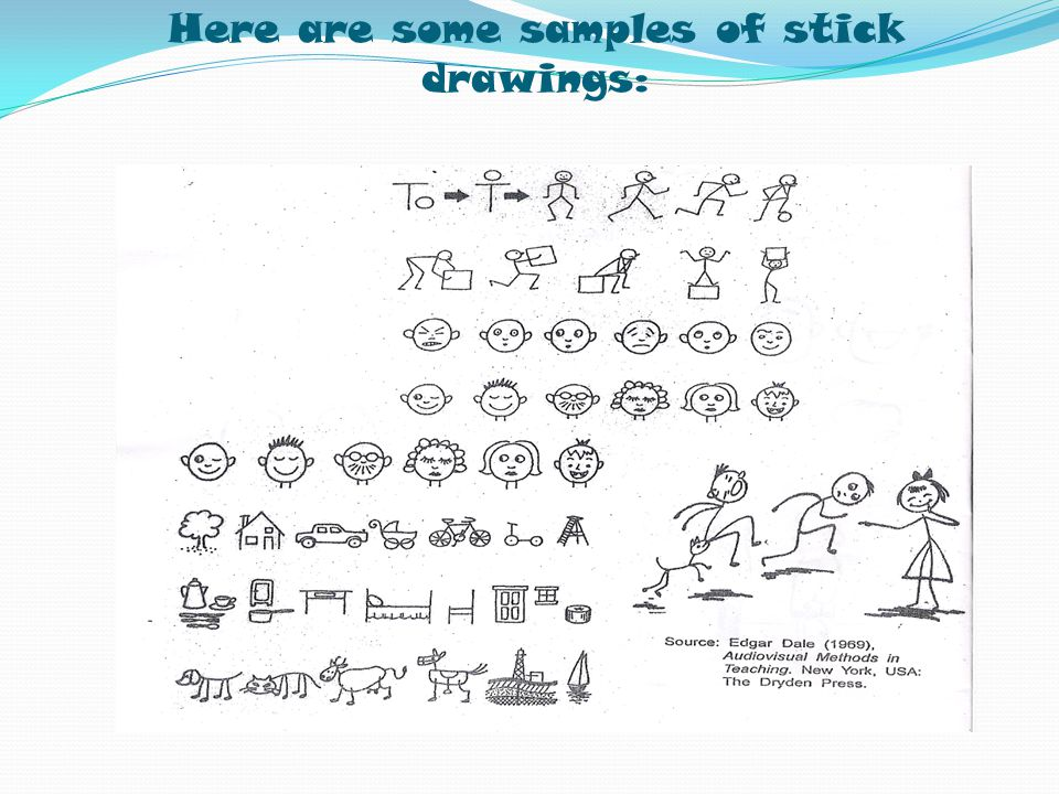 Here are some samples of stick drawings: