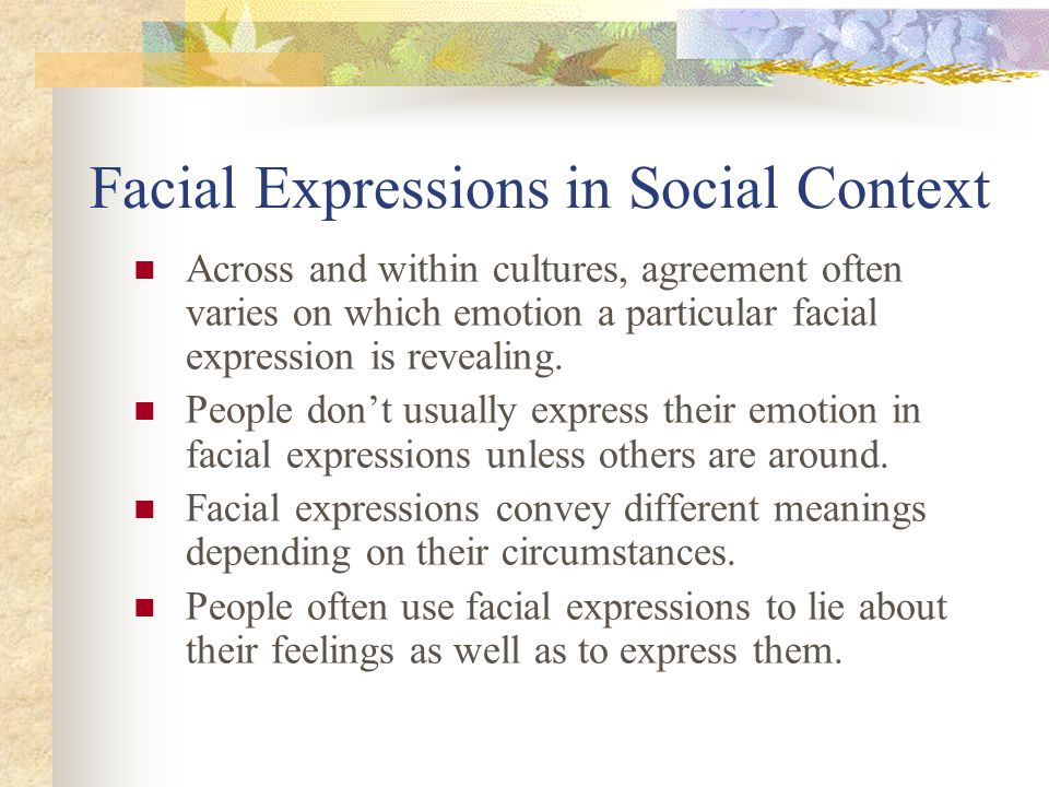 Facial Expressions in Social Context