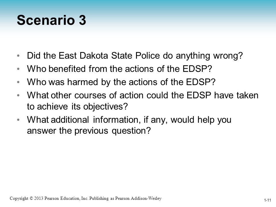 Scenario 3 Did the East Dakota State Police do anything wrong