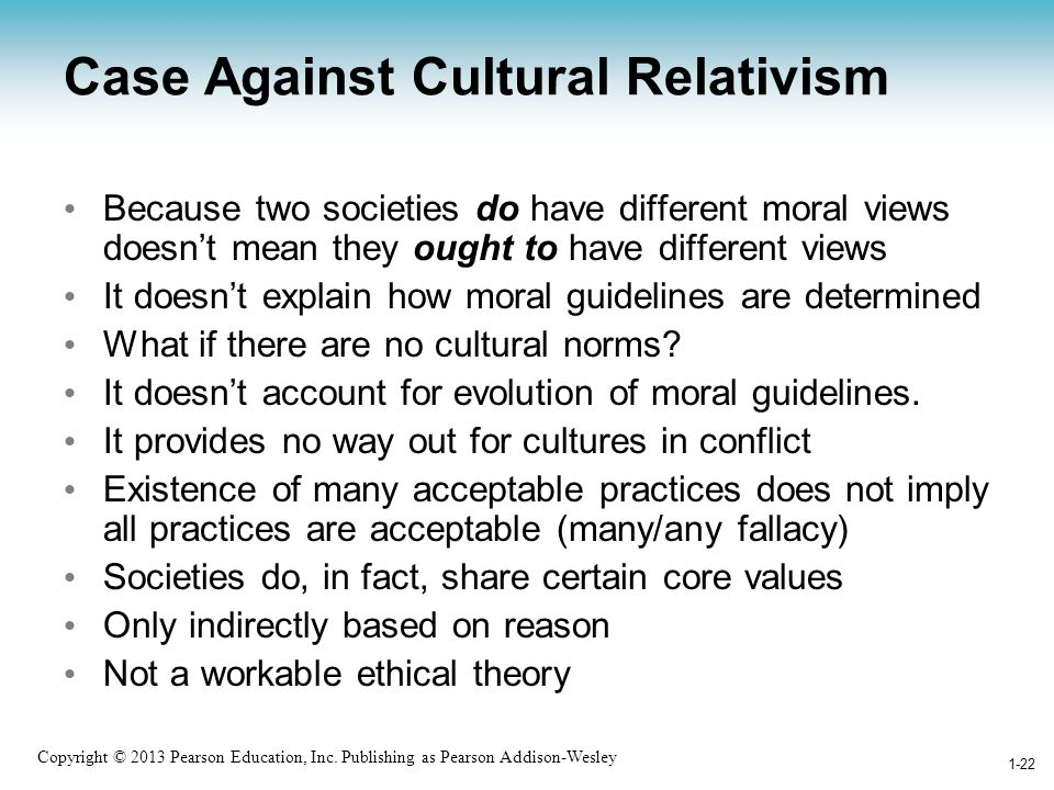 Case Against Cultural Relativism