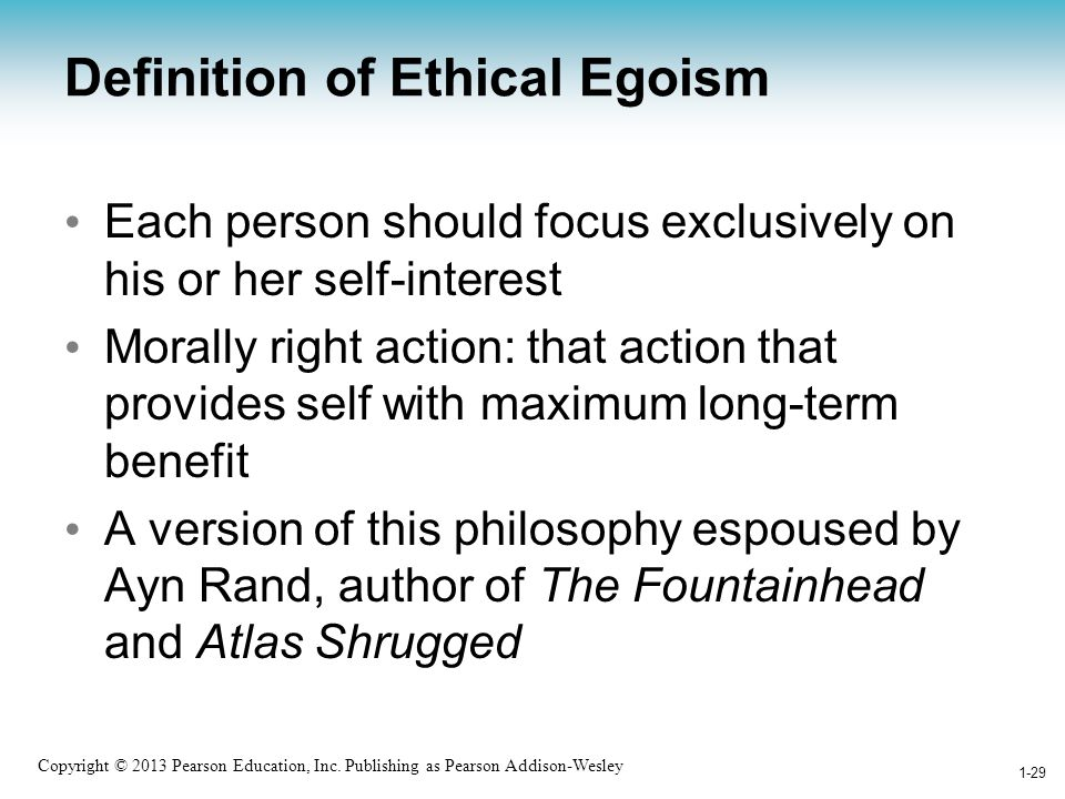 Definition of Ethical Egoism