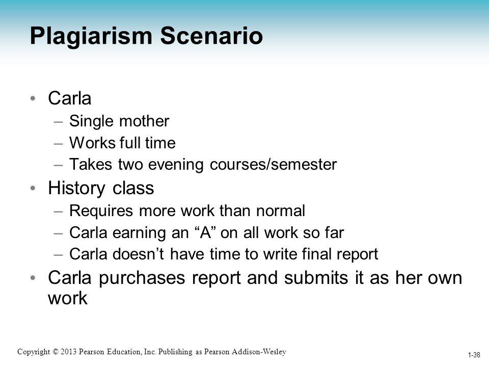 Plagiarism Scenario Carla History class