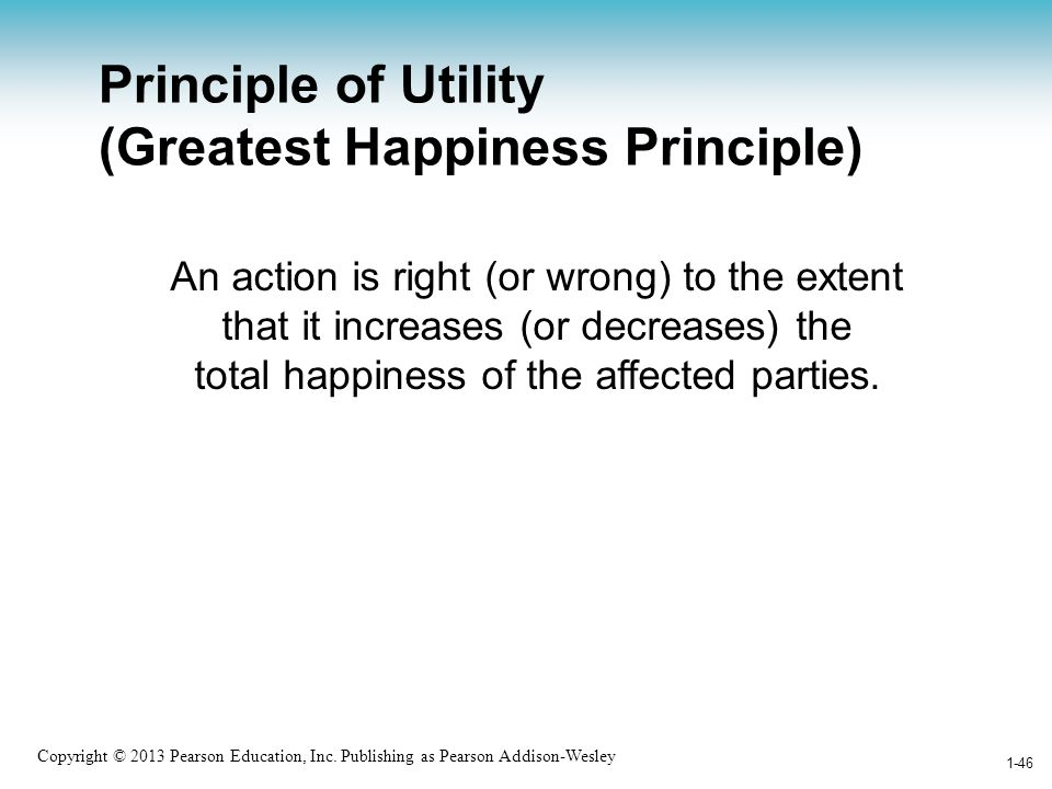 Principle of Utility (Greatest Happiness Principle)
