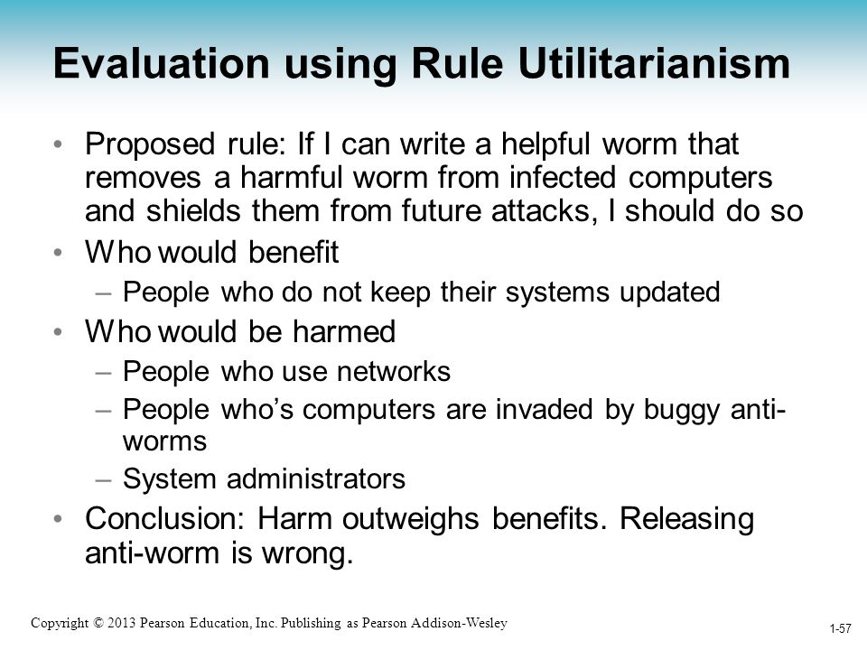 Evaluation using Rule Utilitarianism