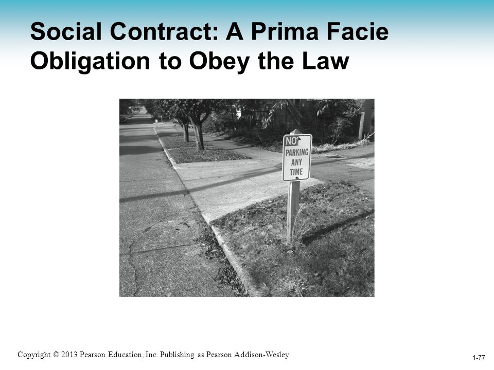 Social Contract: A Prima Facie Obligation to Obey the Law