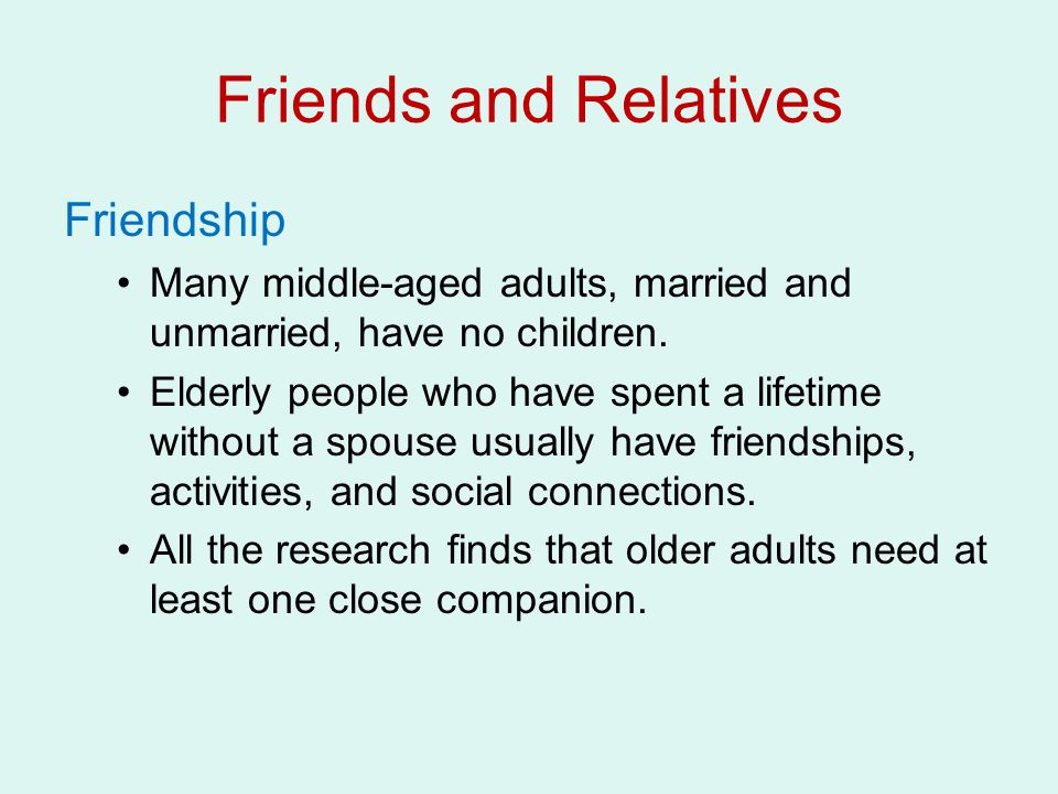Friends and Relatives Friendship
