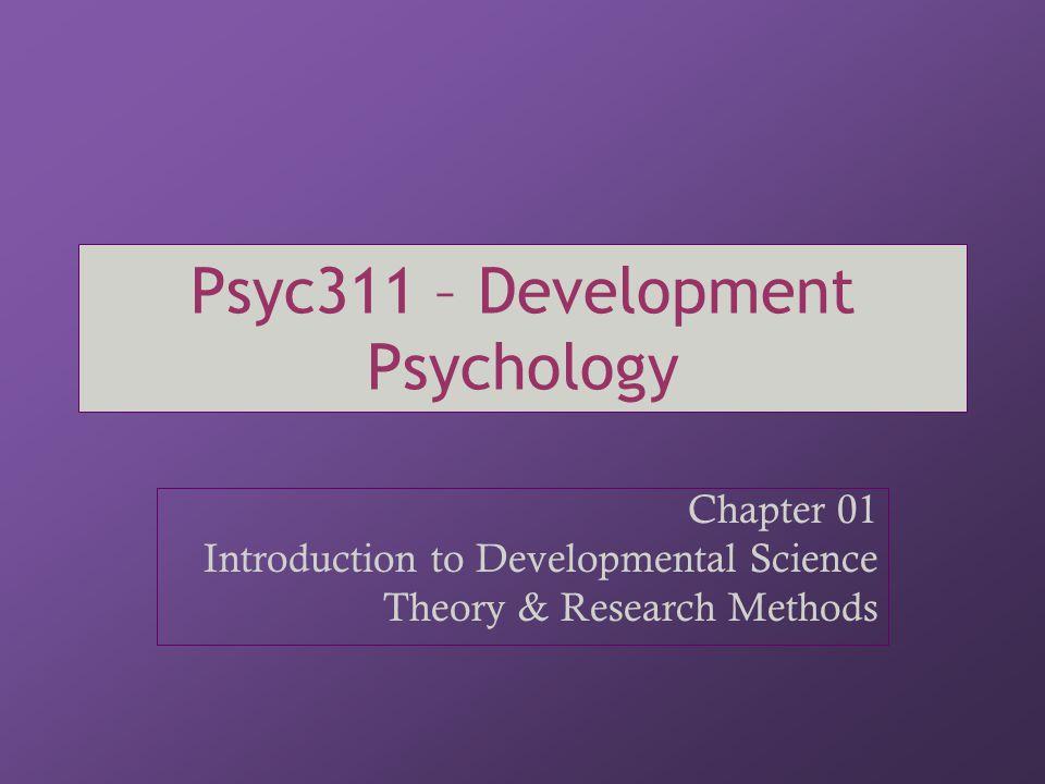 Psyc311 – Development Psychology