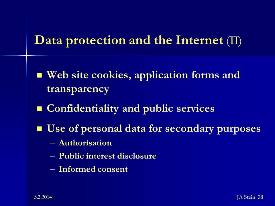 Data protection and the Internet (II)