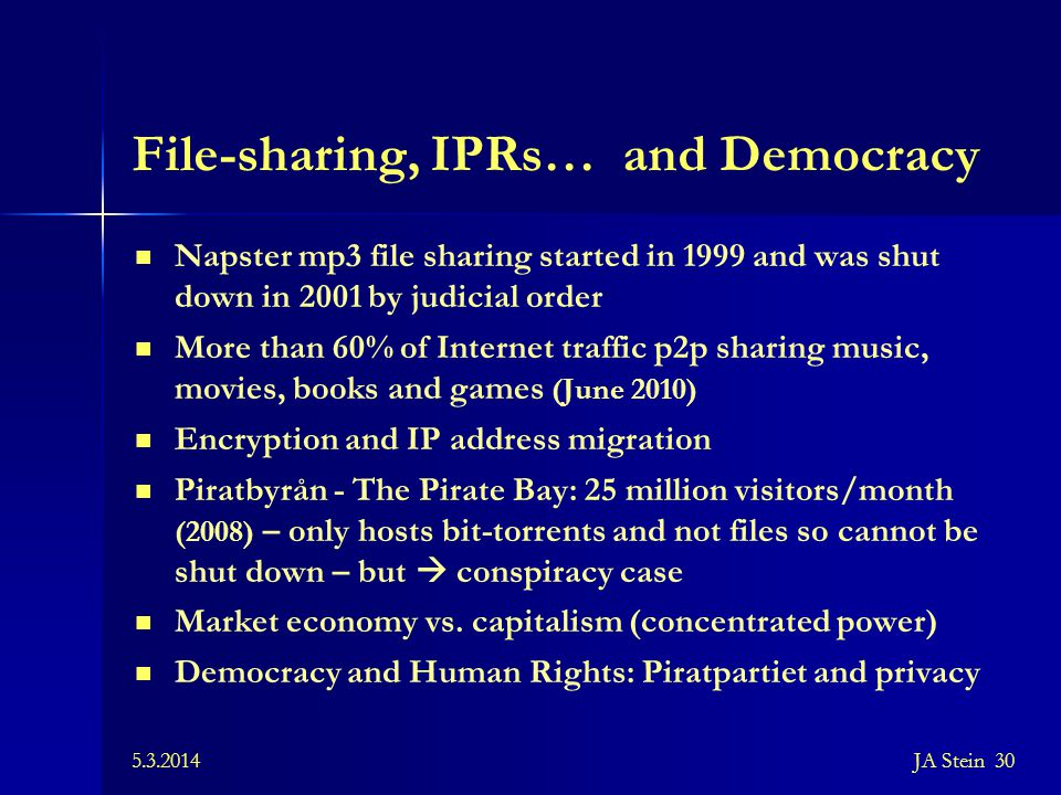 File-sharing, IPRs… and Democracy