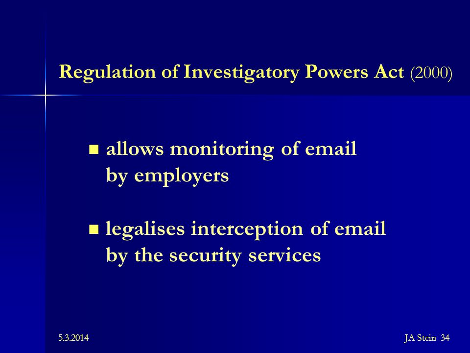 Regulation of Investigatory Powers Act (2000)