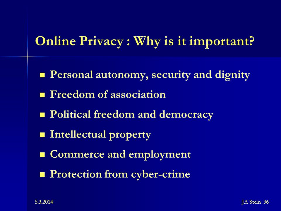 Online Privacy : Why is it important