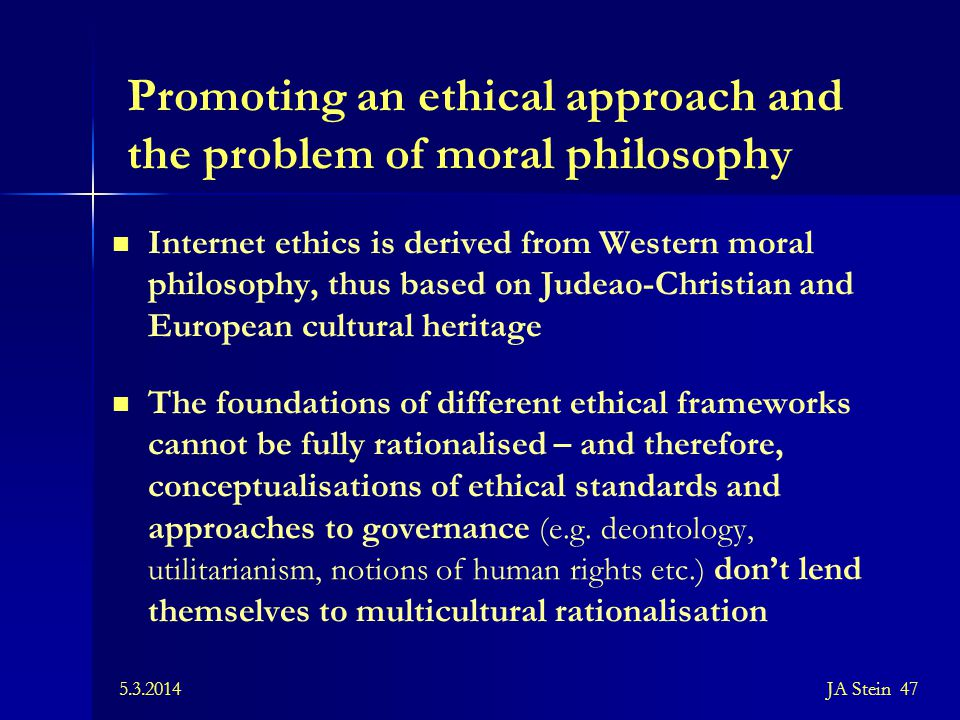 Promoting an ethical approach and the problem of moral philosophy