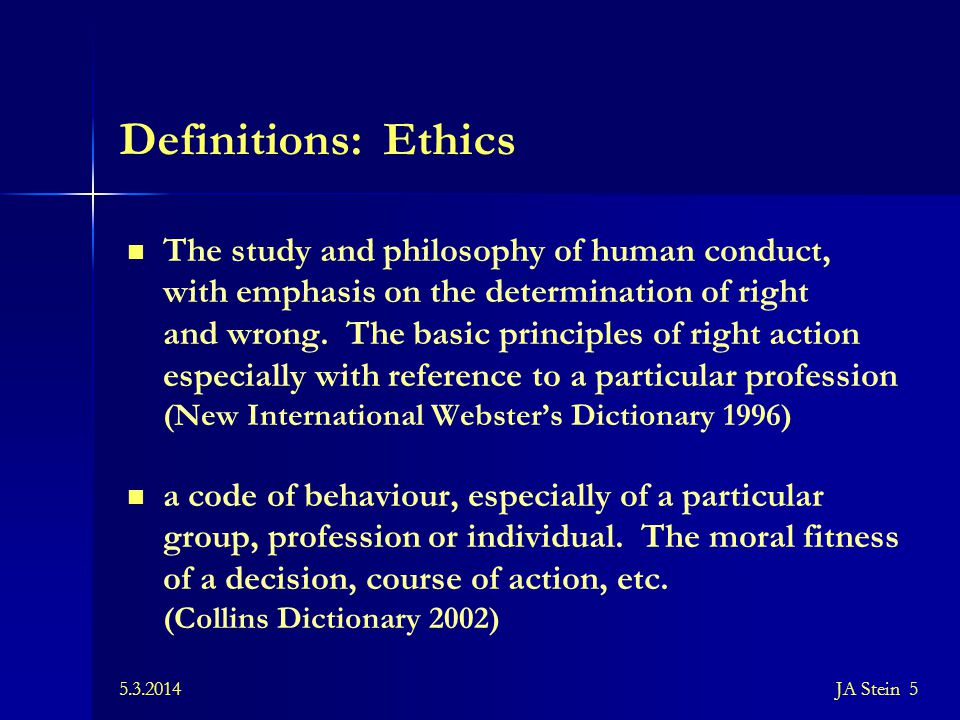 Definitions: Ethics