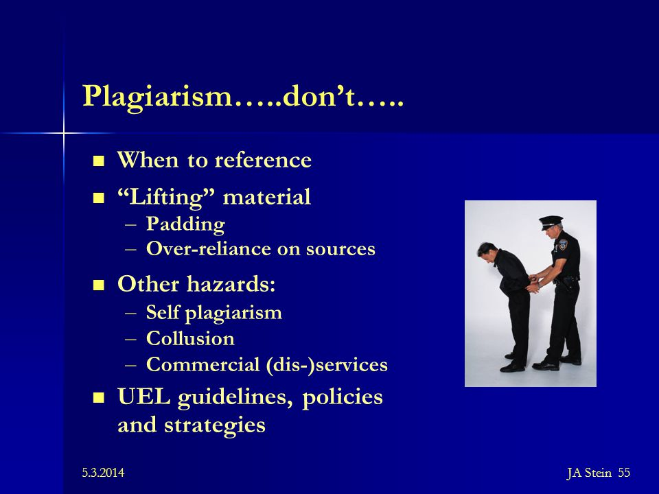 Plagiarism…..don't….. When to reference Lifting material