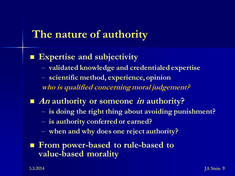The nature of authority