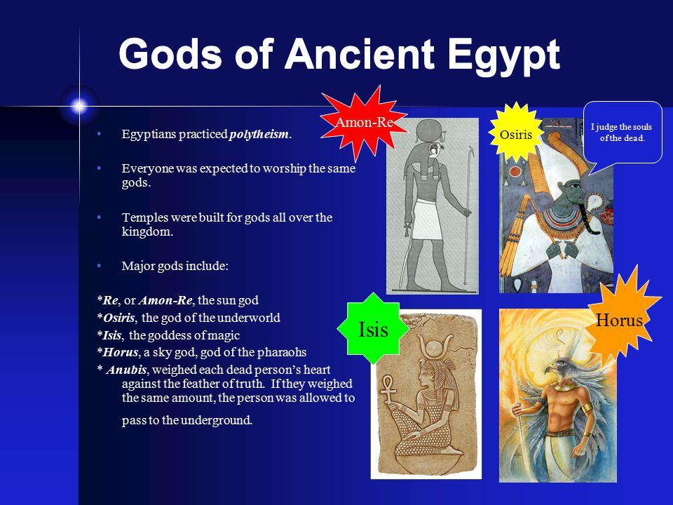 Gods of Ancient Egypt Isis Horus Amon-Re Osiris