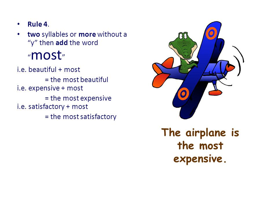 The airplane is the most expensive.
