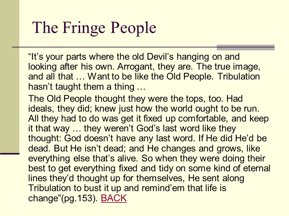 The Fringe People