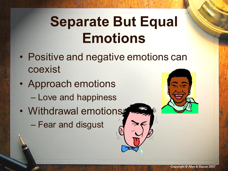 Separate But Equal Emotions