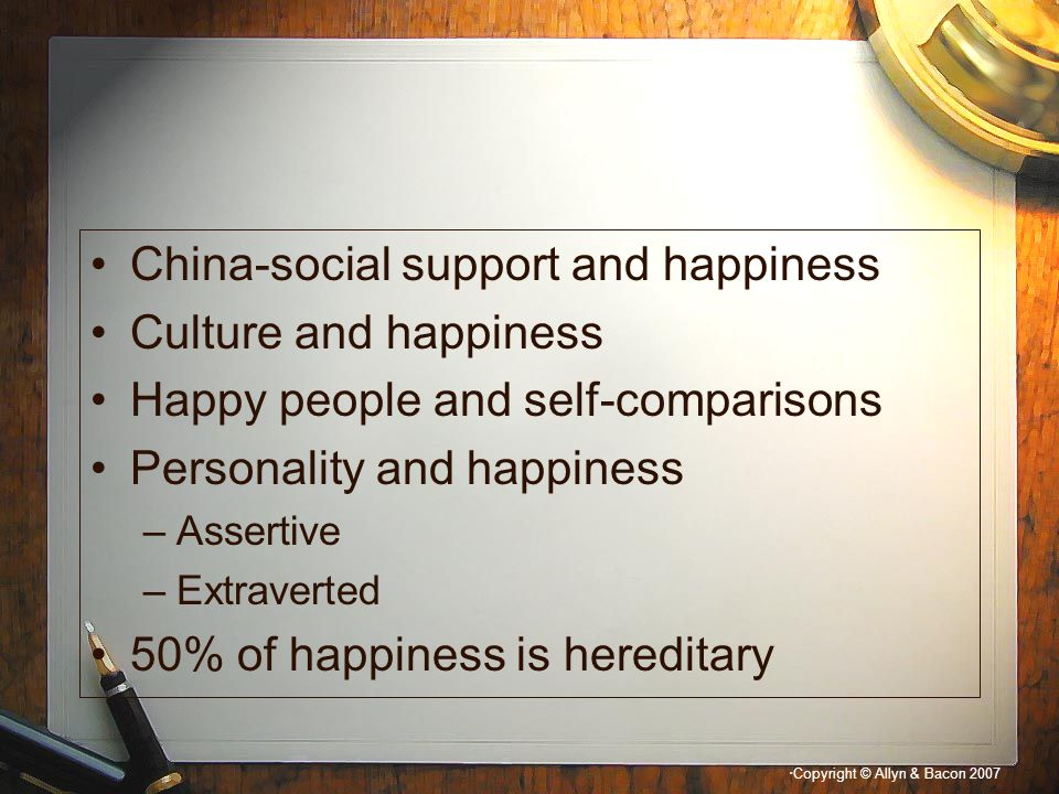 China-social support and happiness Culture and happiness