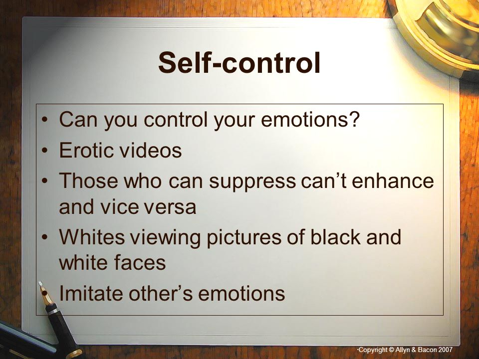 Self-control Can you control your emotions Erotic videos