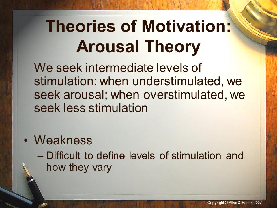 Theories of Motivation: Arousal Theory