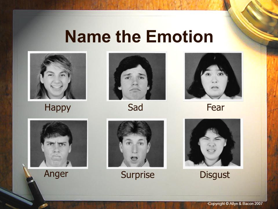 Name the Emotion Happy Sad Fear Anger Surprise Disgust