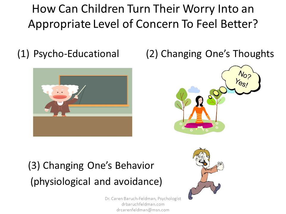 How Can Children Turn Their Worry Into an Appropriate Level of Concern To Feel Better