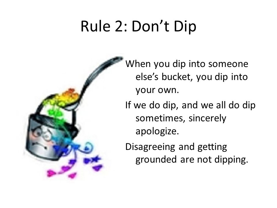Rule 2: Don't Dip
