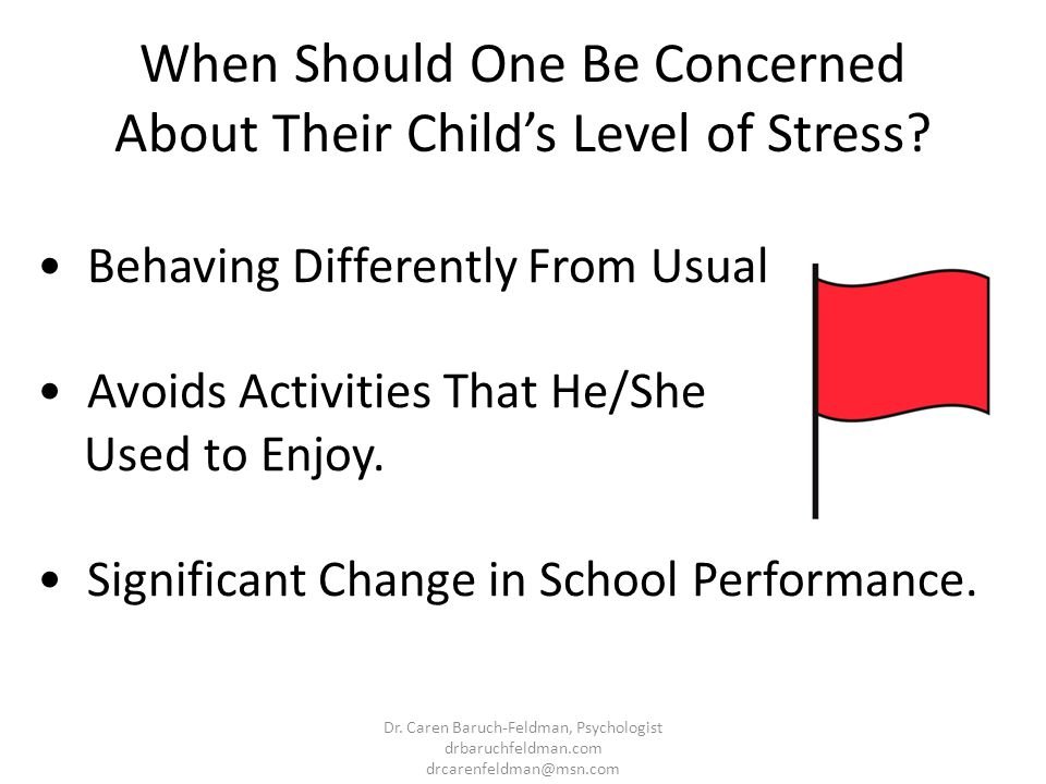 When Should One Be Concerned About Their Child's Level of Stress