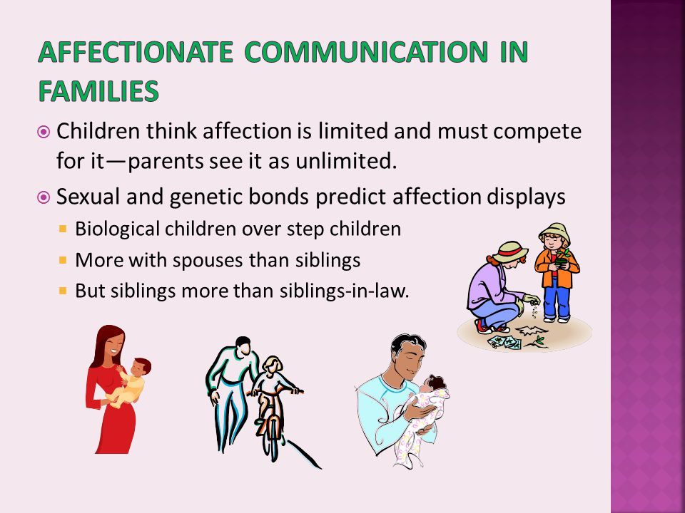 Affectionate communication in families