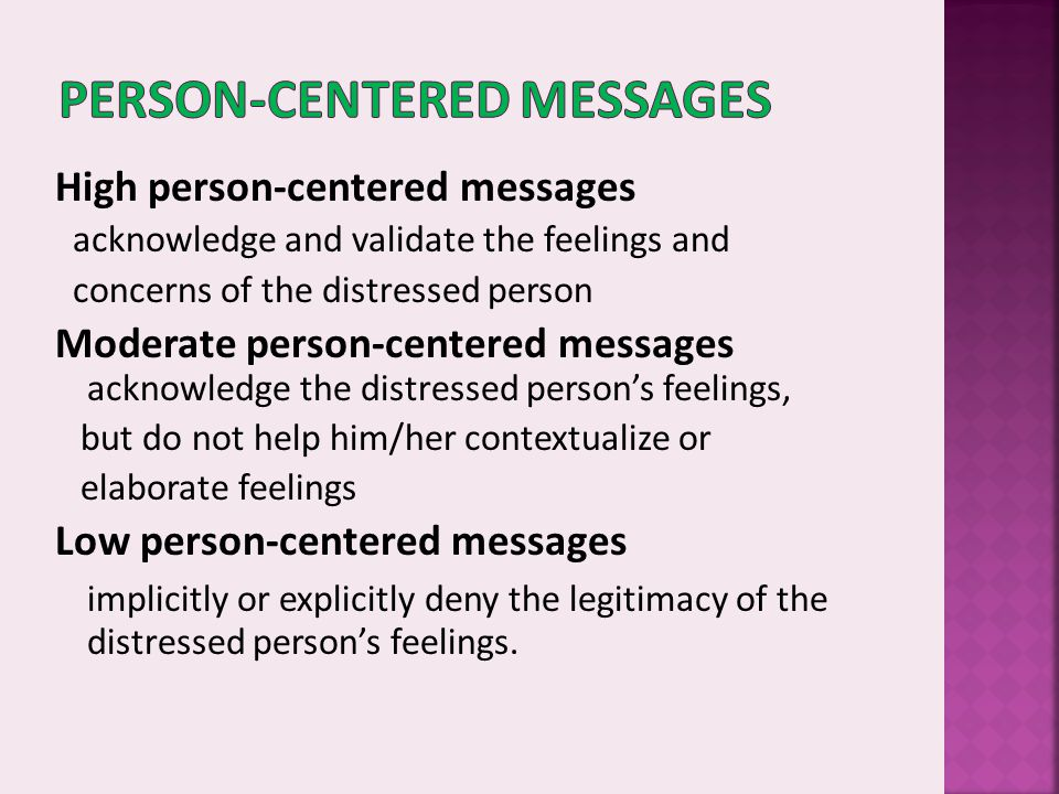 Person-Centered Messages