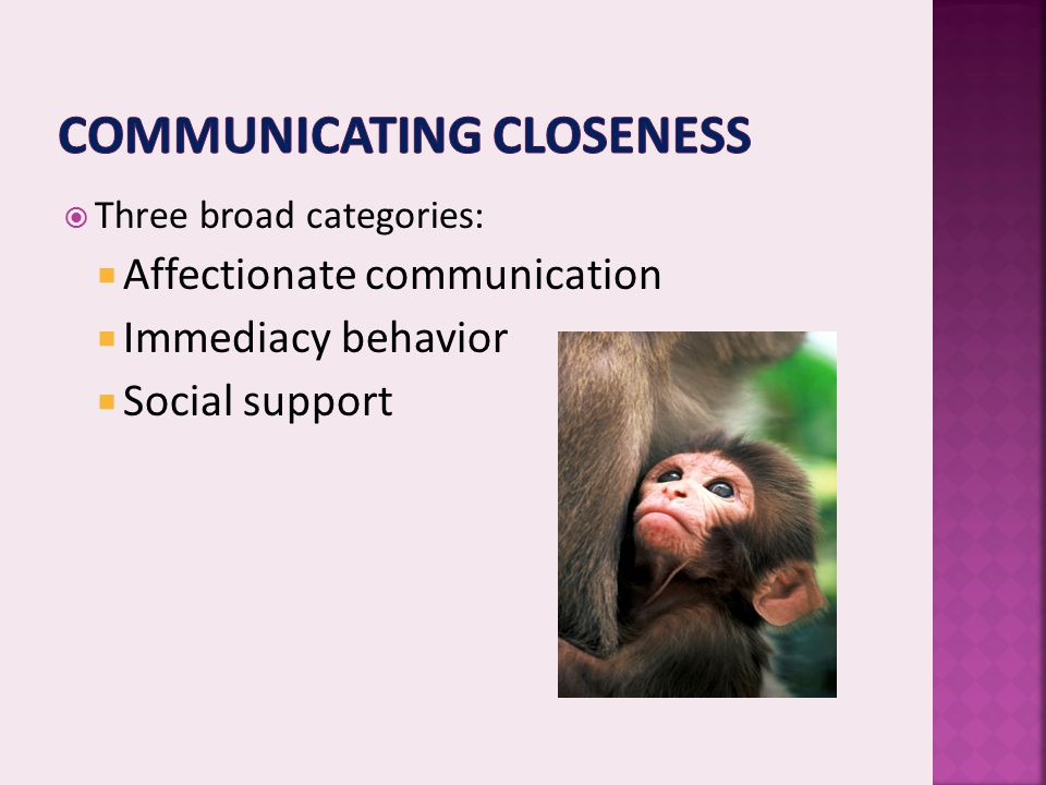 Communicating closeness