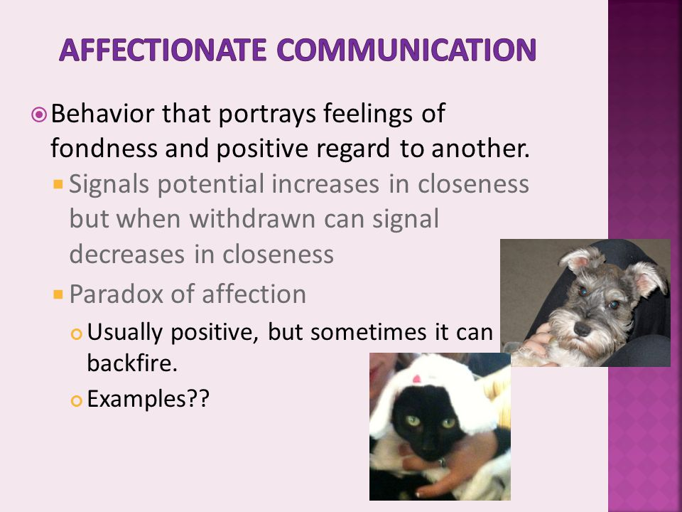 Affectionate communication