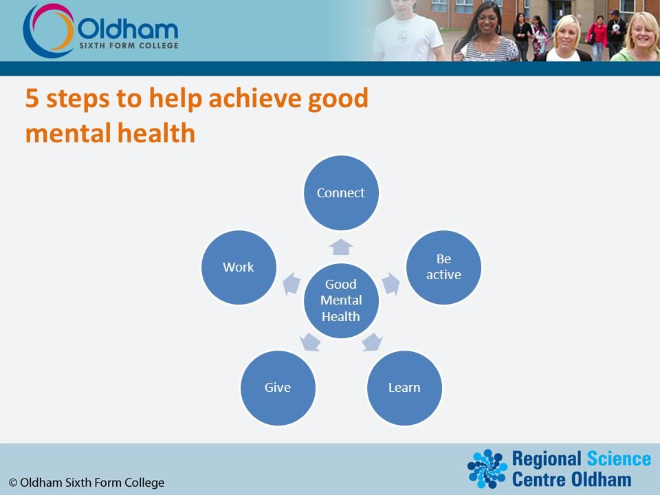 5 steps to help achieve good mental health