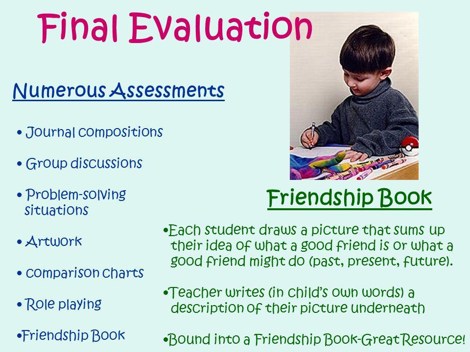 Final Evaluation Friendship Book Numerous Assessments