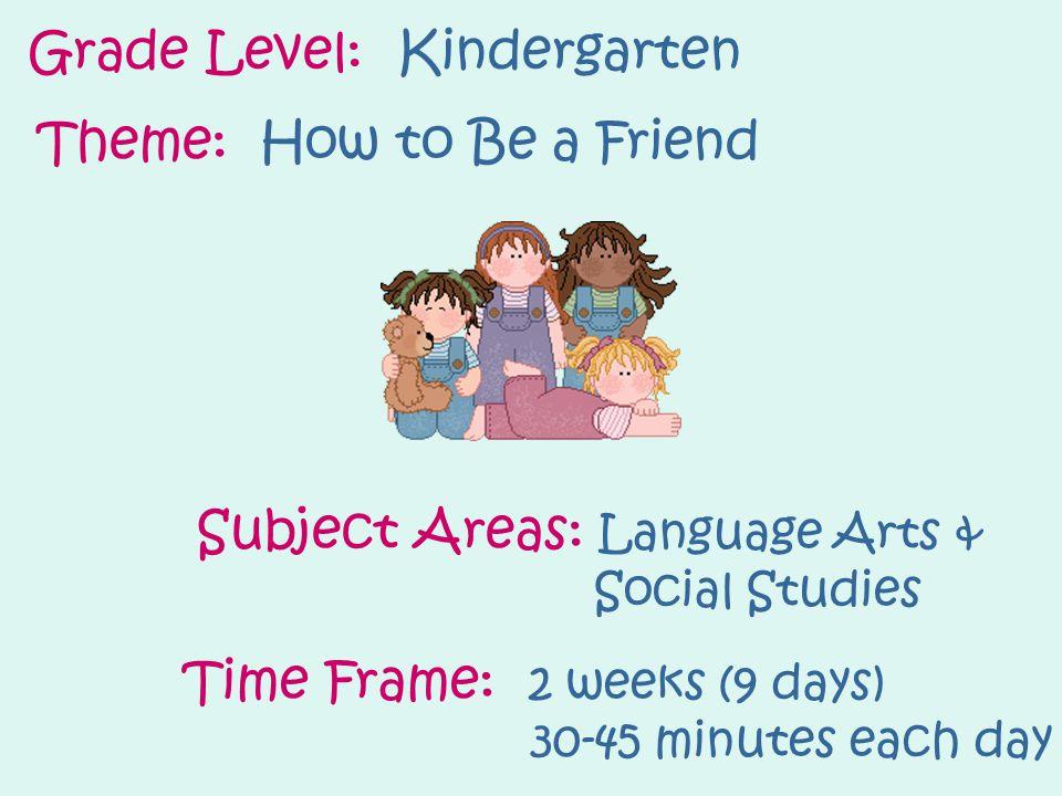 Grade Level: Kindergarten