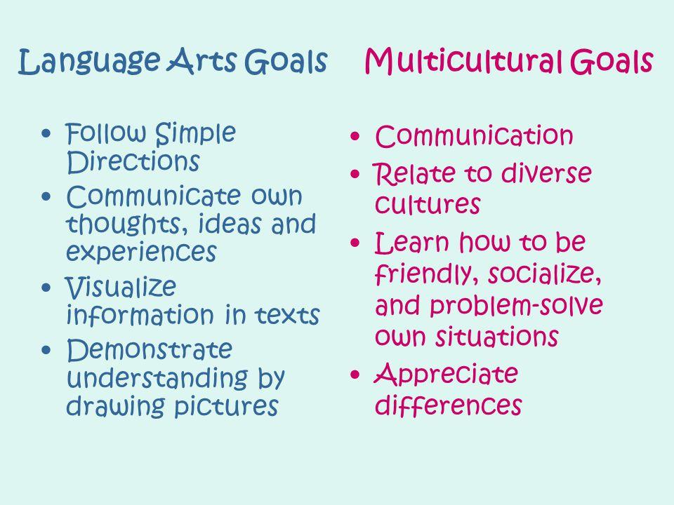 Language Arts Goals Multicultural Goals