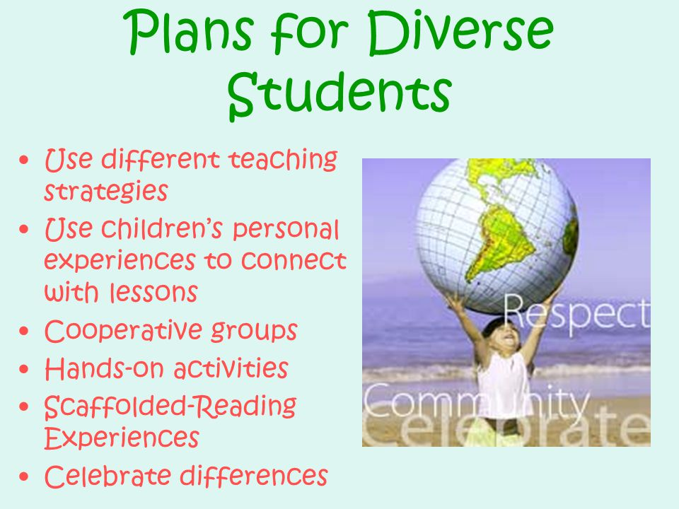 Plans for Diverse Students