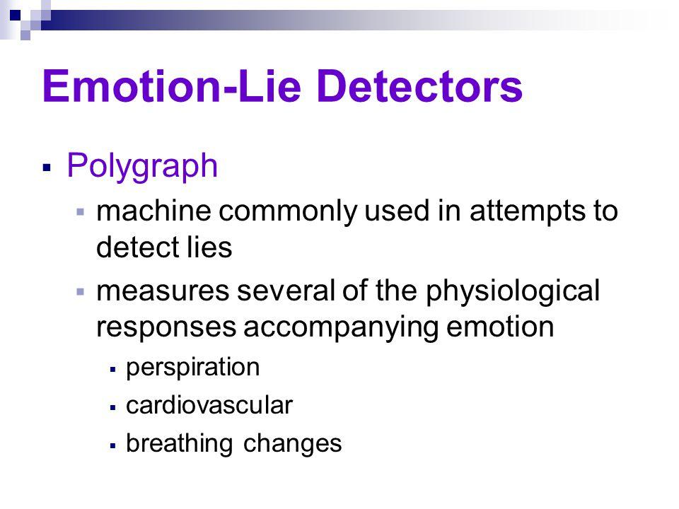 Emotion-Lie Detectors