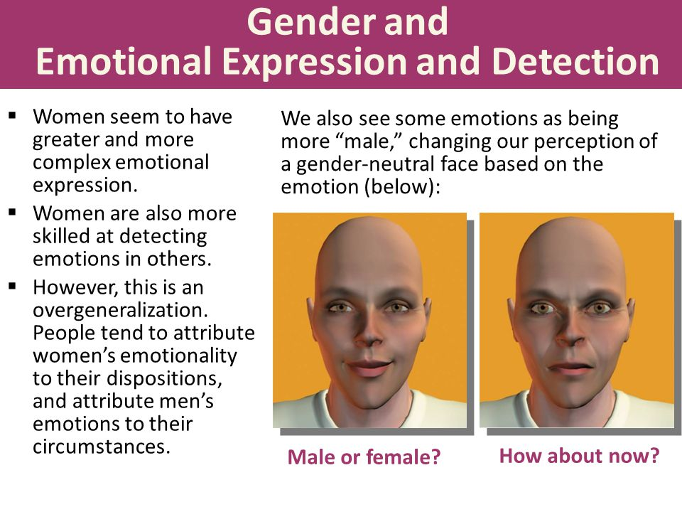 Gender and Emotional Expression and Detection