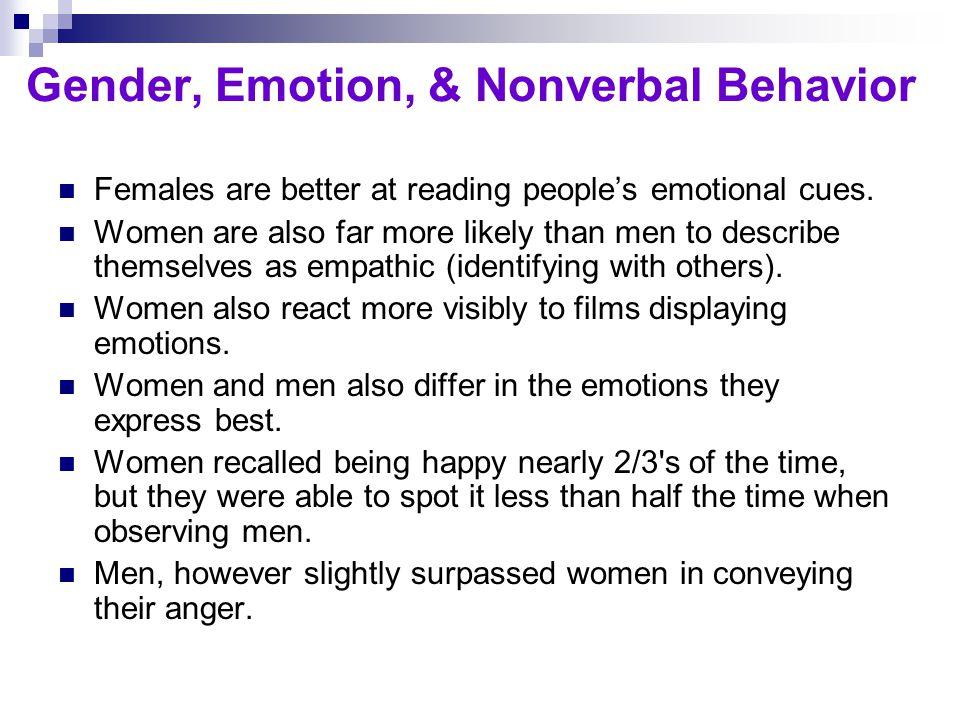 Gender, Emotion, & Nonverbal Behavior