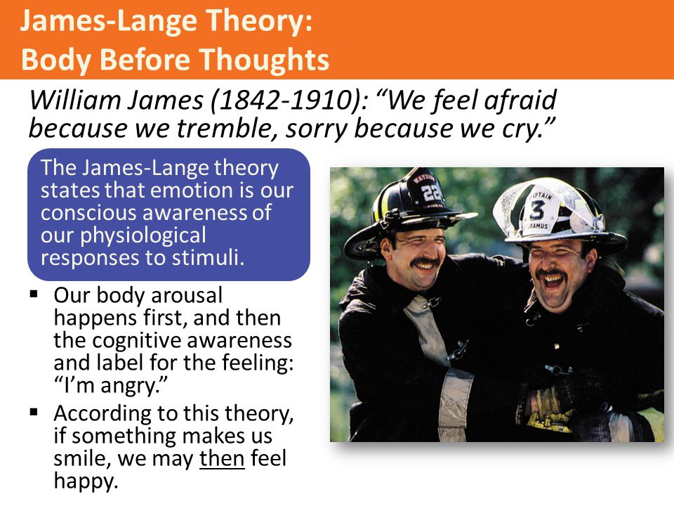 James-Lange Theory: Body Before Thoughts
