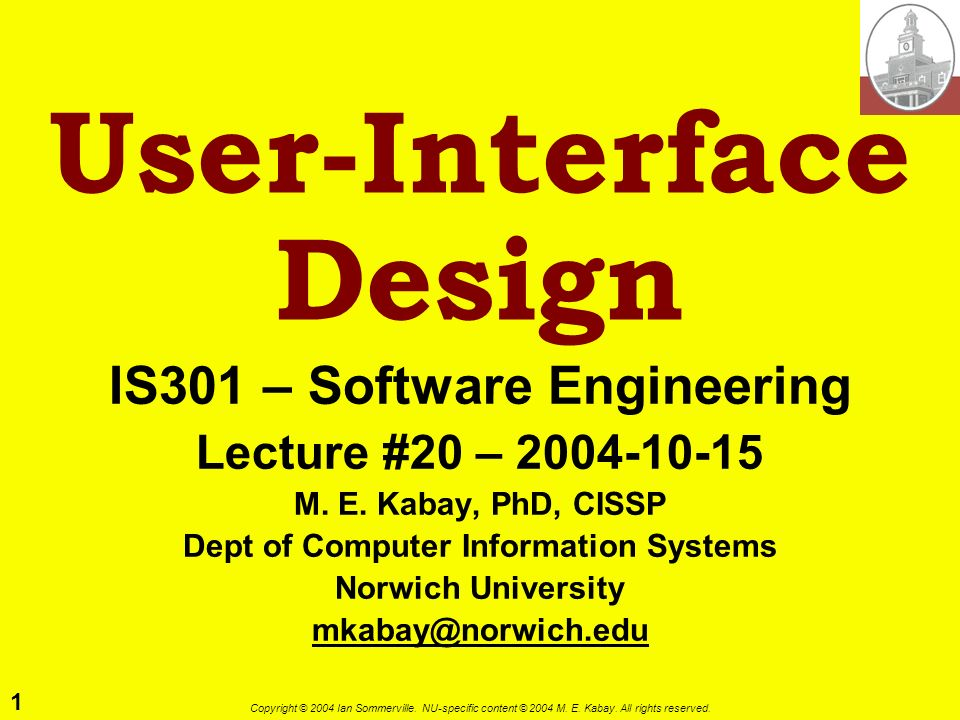 User-Interface Design