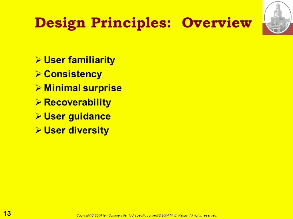 Design Principles: Overview