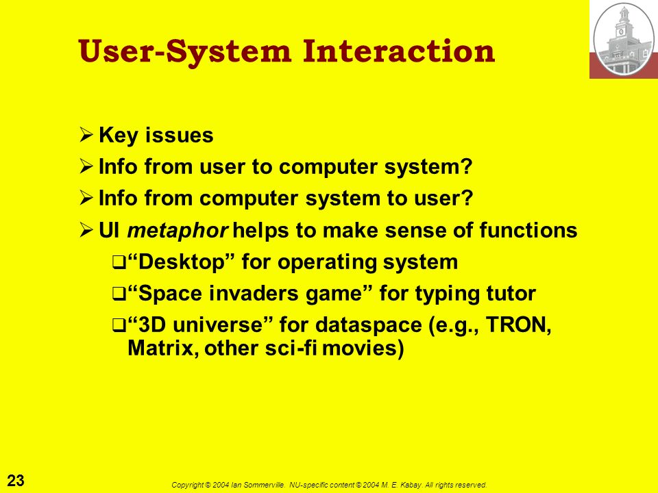 User-System Interaction