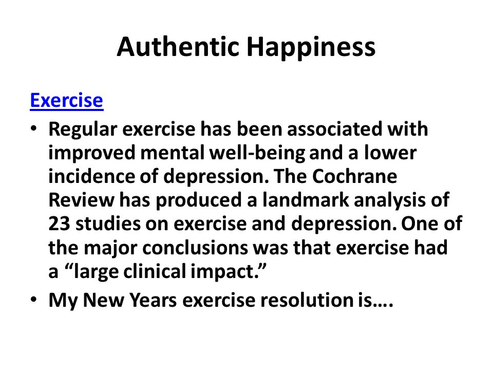 Authentic Happiness Exercise