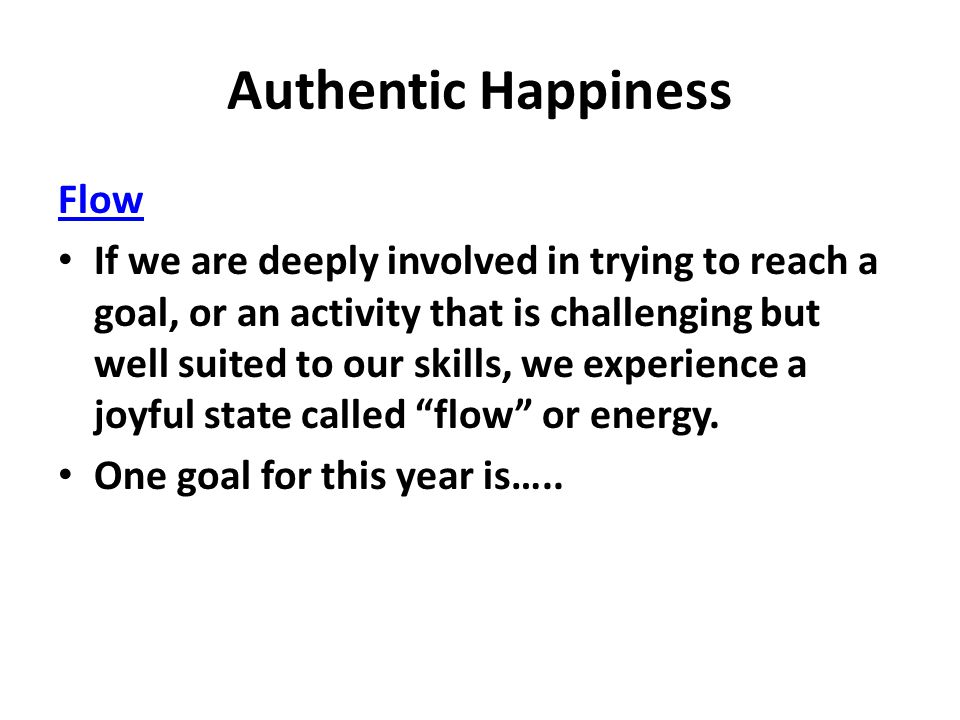 Authentic Happiness Flow